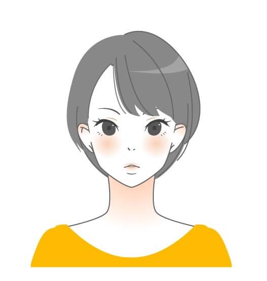 ショートヘアの女性のイラスト