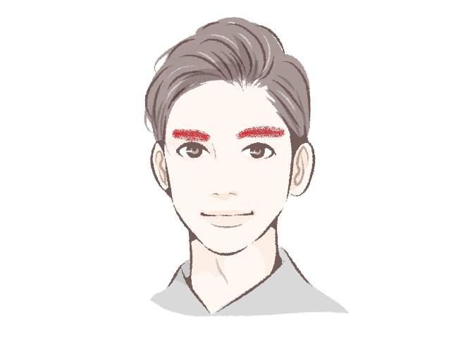眉毛が赤くなった人