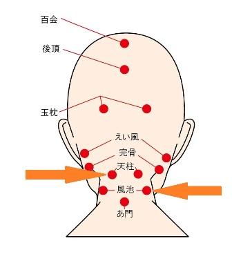 頭のツボの説明