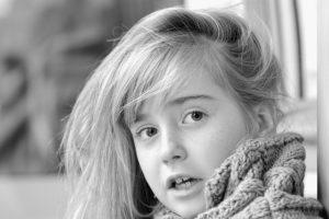 ブリーチをした女の子の写真