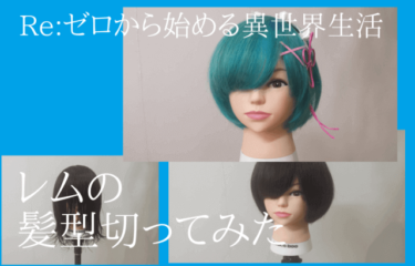 神アニメRe:ゼロから始める異世界生活 レムの髪型を切ってみた