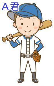 野球少年A君のイラスト画像