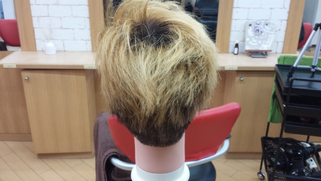 one ok rock Takaさんの髪型 ブリーチ2回後の写真 後ろ