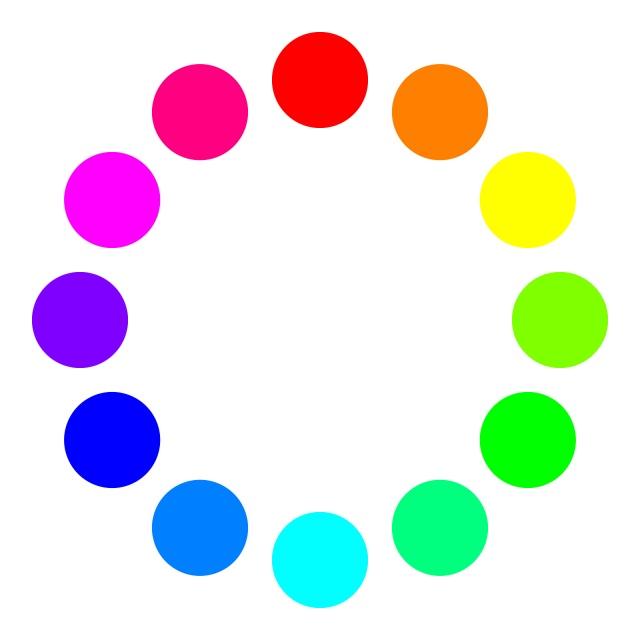 色相環を示したイラスト画像