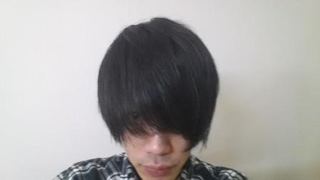 ブリーチ前の黒髪の写真