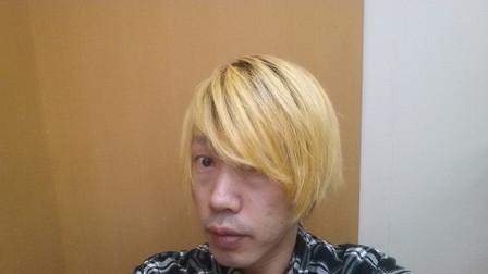 ブリーチ2回の髪の毛の写真