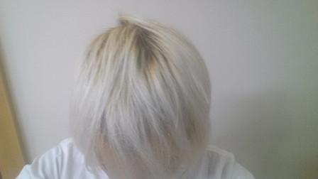 ブリーチ5回後の髪の毛の写真