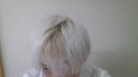 失敗例 ブリーチ6回後の髪の毛の写真