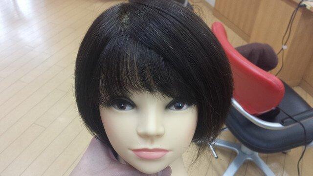 右分けの前髪の写真