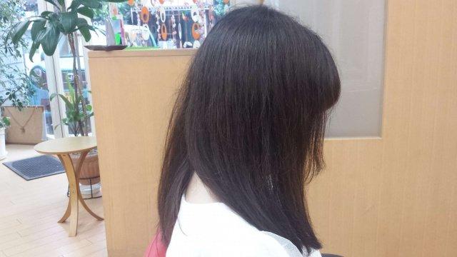 イルミナカラー前の髪の毛の写真