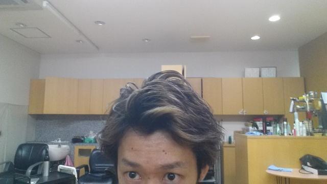 黒染め後3週間経過アップの写真