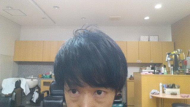 髪の毛を乾かした後の写真
