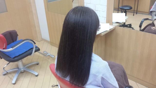 イルミナカラーで染めた後の髪の毛の写真