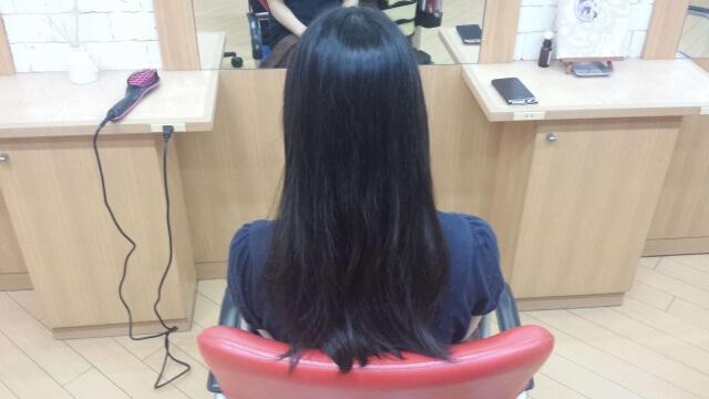 パーマ前の髪の毛の写真