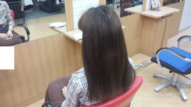 イルミナカラーで染める前の髪の毛の写真