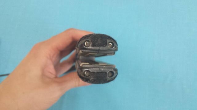 低温ストレート専用のアイロンのかみ合わせ部分の写真