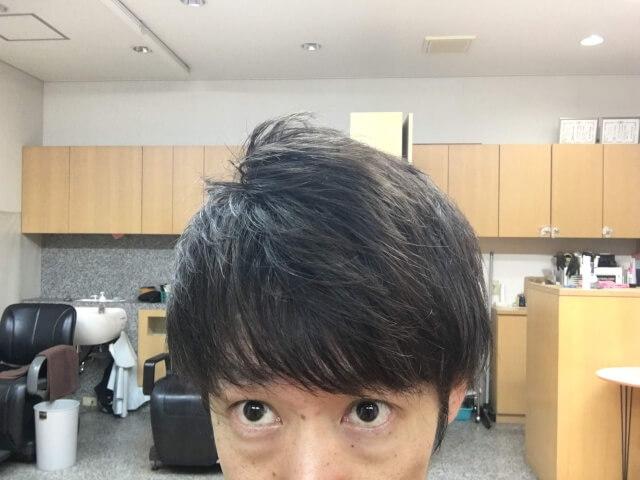 ニベアを付ける前の髪の毛アップ写真