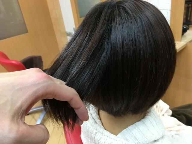 髪がサラサラな状態の写真