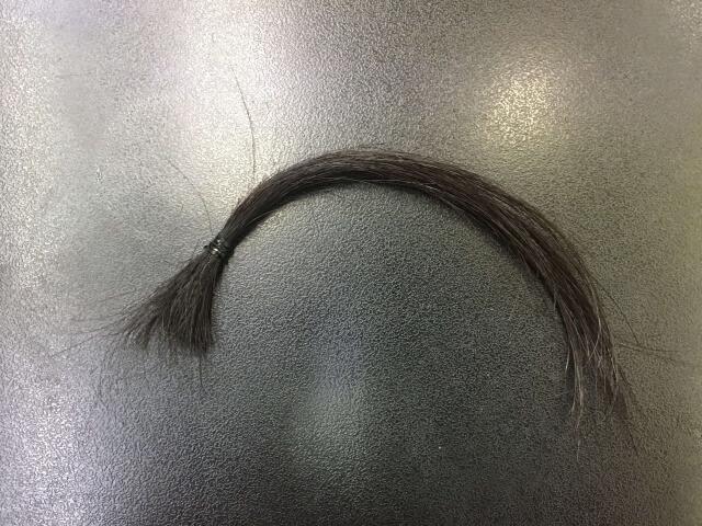黒髪にピンクアッシュを染めた写真