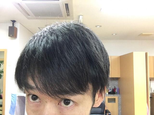 ノーシャンプーで洗い続けて一週間後の髪の毛の写真
