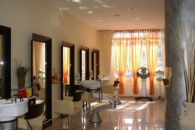 キレイな美容室の写真