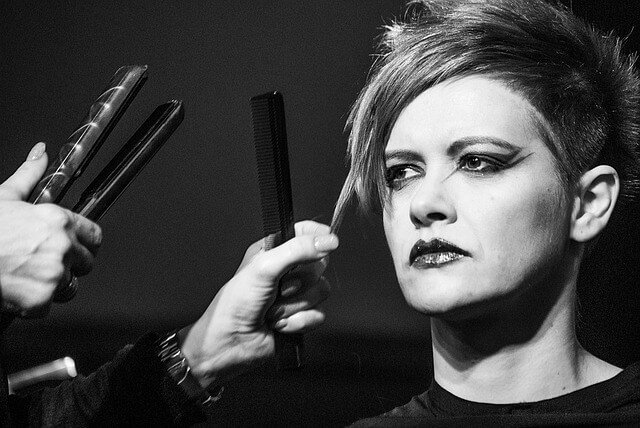 美容師コンテストのモデルの写真