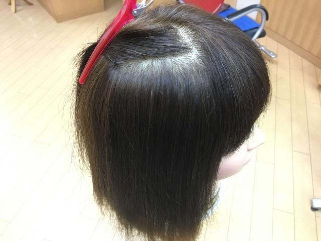 分け取った髪の毛の写真