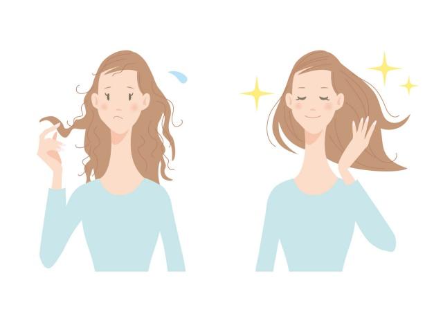 髪の毛がサラサラになっている女性の写真