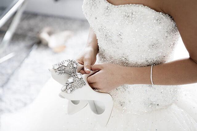 結婚式のドレスの写真