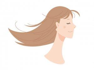 髪がサラサラな女性の写真