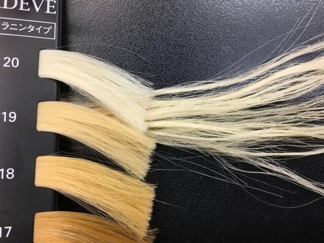 6回ブリーチした髪の毛のレベルの写真