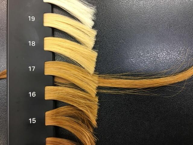2回ブリーチした髪の毛ののレベルの写真