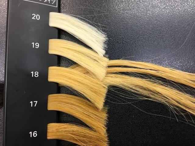 4回ブリーチした髪の毛のレベルの写真