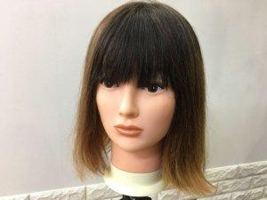 蒸しタオルを使った後梳かした髪の毛の写真