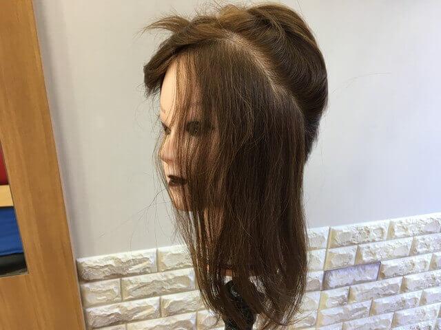 すくとアホ毛が起きる部分の写真