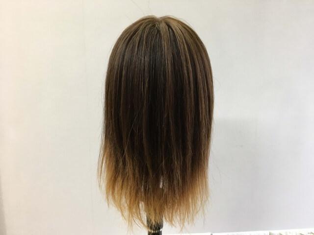 パンテーン流さないトリートメントを付ける前の髪の毛の後ろ姿
