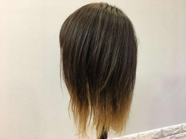 何も付けていない髪の毛の写真
