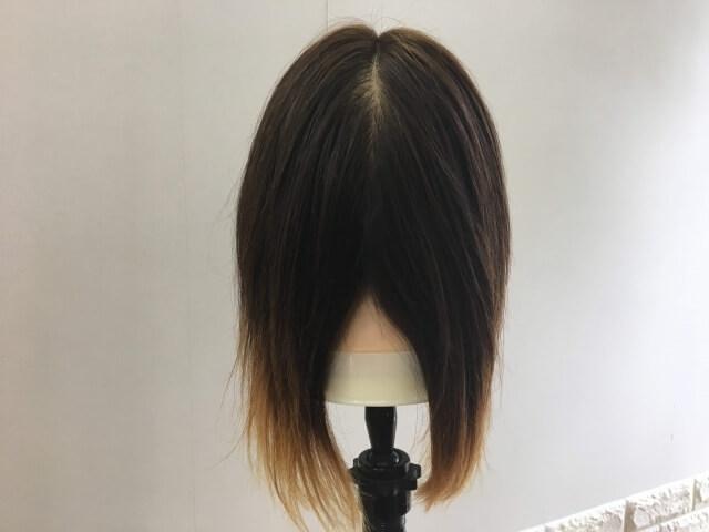 ロレアル エルセーヴ リスインテンススムースオイルエッセンスをつけて乾かした髪の毛の写真