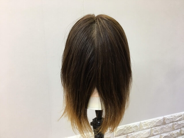 パンテーン 洗い流さないトリートメント インテンシブヴィタミルク を付けて乾かした髪の毛の写真