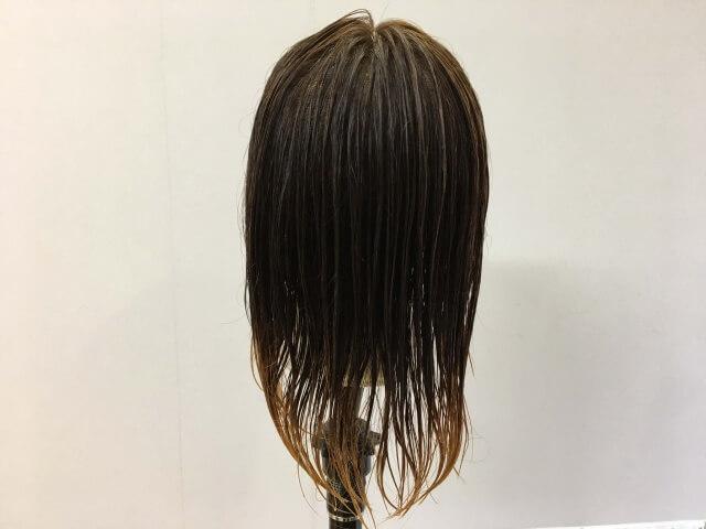 濡らし髪の毛の後ろ姿の写真