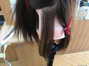 ヘアビューロンで伸ばした髪の毛の写真