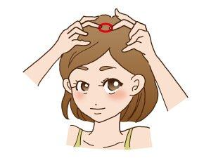 頭皮マッサージのイラスト