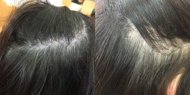 ヘナ前の髪の毛