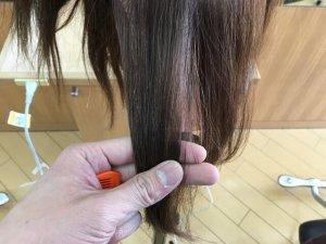 ヘアビューロンで伸ばした後の髪の毛のうるおいの写真