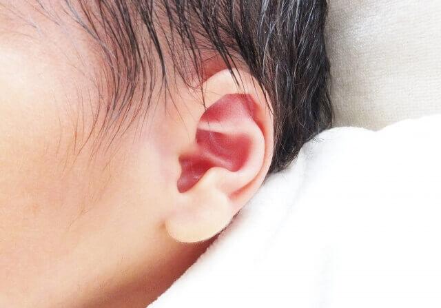 赤ちゃんの産毛の写真