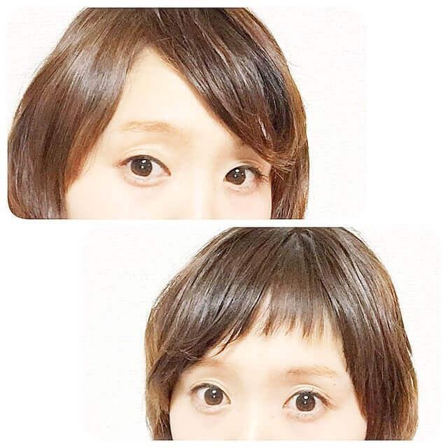 前髪ダブルバングの写真