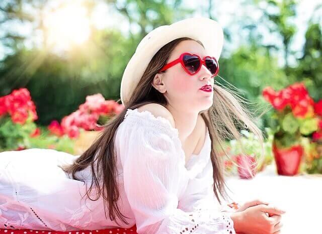 夏が似合う女性の写真