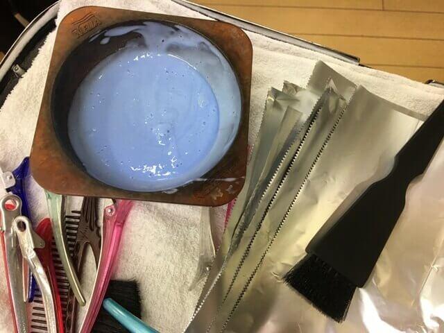 バレイヤージュカラーの道具の写真