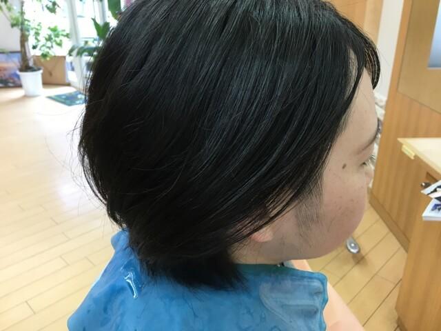 6mmで刈ったツーブロックの髪をおろした
