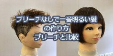 ブリーチしないで一番明るい髪色にする方法 ブリーチと比較